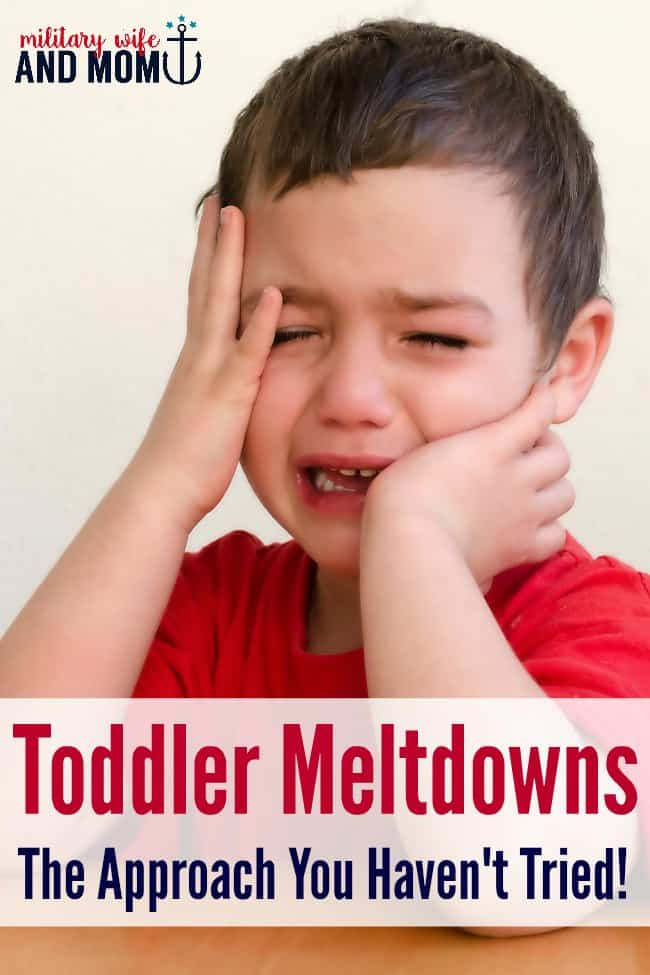 Have you tried this approach to toddler meltdowns? Worked for us!