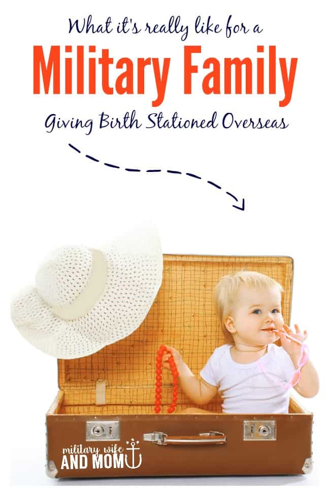 Ever wonder what it's like for military families stationed overseas while having a baby? Here's your answer.