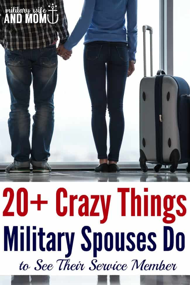 Have you ever done something crazy like this as a military spouse?   military girlfriend   Military signficant other   military family   military wife   traveling as a military spouse   coping as a military spouse