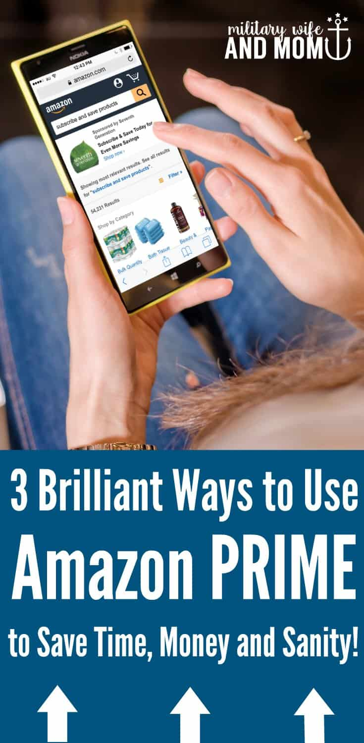 Brilliant ways to stay organized as a mom and save money! How our family uses Amazon PRIME and Target REDCARD to save money and sanity each month!