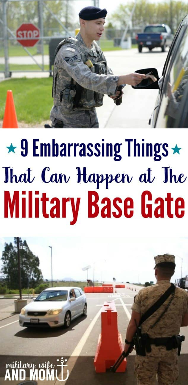 Military base gate etiquette faux pas to avoid. Save yourself from an embarrassing moment at the military base gate.
