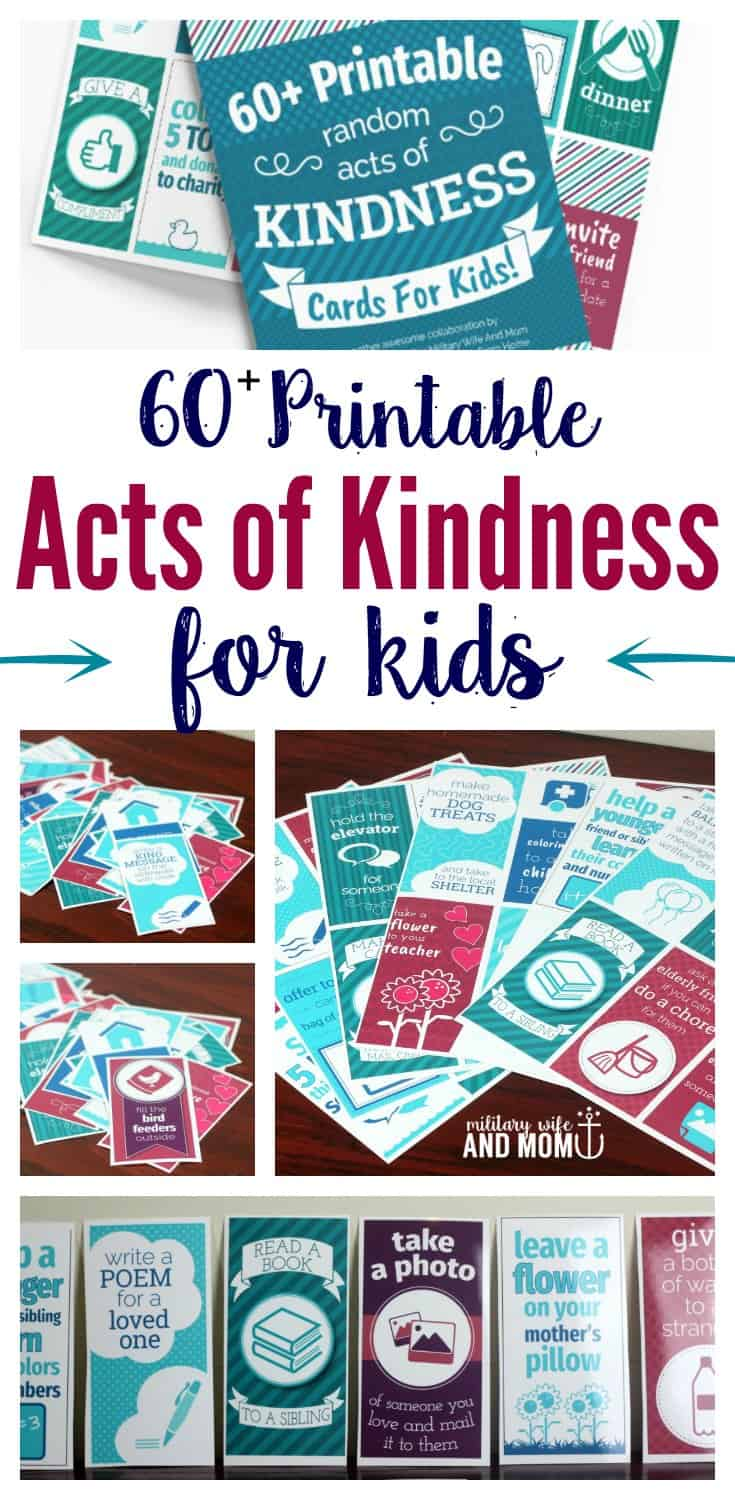 Learn 60+ printable random acts of kindness ideas for kids. Plus, a 3-part guide for getting your kids on board with kindness.